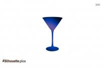 Wine Glass Silhouette Clipart Image
