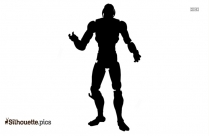 Black And White Cartoon Superheroes Silhouette