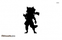 Marvel Rocket Raccoon Silhouette