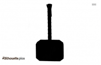 Construction Tools Silhouette, Hammer Clipart Illustration