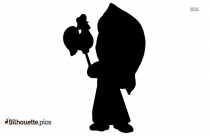 Kanga Roo Cartoon Character Silhouette