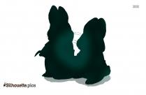Super Hero Dog Silhouette Cartoon