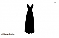 Lace Maxi Dress Silhouette Vector