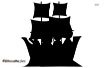 Mayflower Ship Silhouette