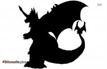 Black Godzilla Silhouette Image