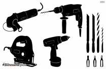 Mechanical Tools Clipart Silhouette