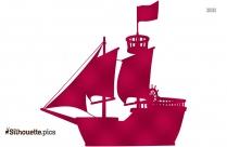 Pirate Ship Clipart || Galleon Ship Silhouette