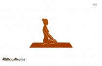 Firefly Pose Yoga Clipart || Bicforte Yoga Silhouette