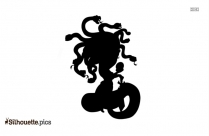Medusa Cartoon Silhouette Icon