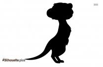 Cute Meerkat Silhouette Art