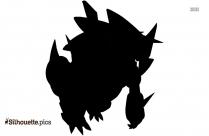 Black And White Mega Arceus Silhouette