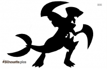 Mega Arbok Silhouette Illustration