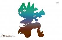 Mega Lucario Silhouette Clipart