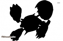 Shiny Mega Deoxy Silhouette Drawing