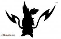 Cartoon Chimchar Silhouette