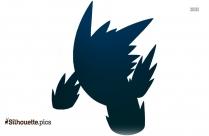 Mega Pokemon Silhouette Clipart Vector Image