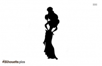 Princess Baby Silhouette Illustration