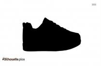 Black Sneaker Silhouette Image