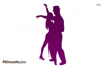 Merengue Couple Dancing Silhouette