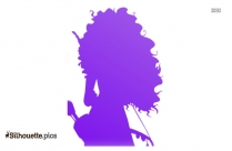 Baby Princess Ariel Silhouette Free Vector Art
