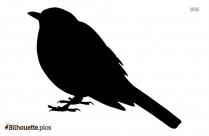 Merle Bird Silhouette Image