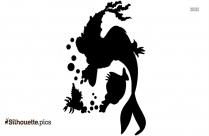 Mermaid Winnie The Pooh Silhouette Image