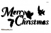 Merry Christmas Font Silhouette Background