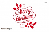 Merry Christmas Font Silhouette Image