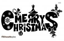 Merry Christmas Silhouette Art
