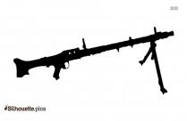 Machine Gun Silhouette Clipart