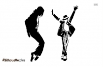 happy girl dancing silhouette