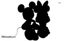 Mickey And Minnie Mouse Free Clip Art Silhouette