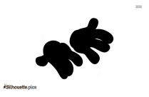 Mickey Hands Black And White Silhouette