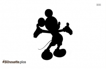 Mickey Mouse Sad Silhouette Drawing