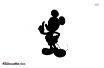 Mickey Mouse Hands Silhouette Image