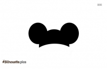 Mickey Mouse Ears Silhouette Clipart