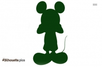 Free Mickey Mouse Silhouette, Vector Art