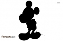 Mickey Mouse Cartoon Silhouette Clipart Vector