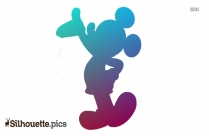Mickey Mouse Silhouette Painting