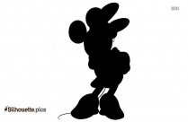 Mickey Mouse Sitting Silhouette Background