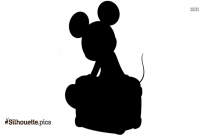Mickey Mouse Sorcerer Silhouette Image