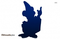 Happy Mickey Mouse Silhouette Drawing