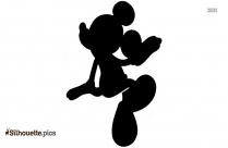 Mickey Mouse Baseball Run Silhouette