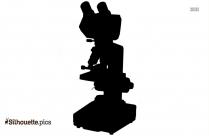 Microscope Vector Silhouette