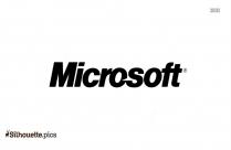 Microsoft Logo Silhouette