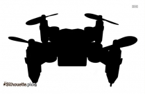 Military Drones Silhouette Background