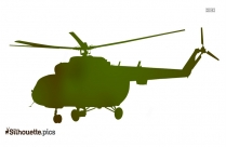 Military Helicopter Silhouette Background
