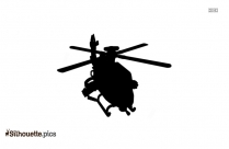 Military Helicopter Silhouette Free Vector Art