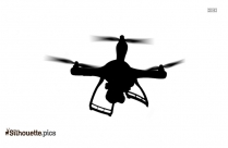 Military Quadcopter Silhouette