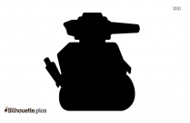Cartoon Army Tank Silhouette Clipart